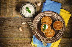 Traditional turkish cutlet (kebab) eggplant Stock Photos