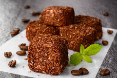 Traditional turkish delight dessert Stock Photos