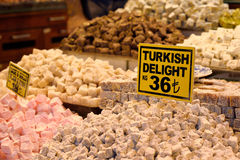 Traditional turkish delight. Royalty Free Stock Photo