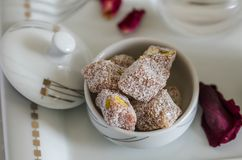 Traditional Turkish Delight royalty free stock photos