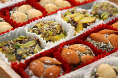 Traditional turkish delight sweets Stock Images