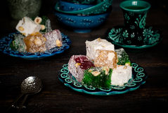 Traditional Turkish  delight Royalty Free Stock Photo