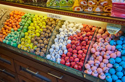 Traditional turkish delights sweets at the Grand Bazaar in Istanbul, Turkey. Stock Photography