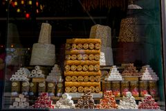 Traditional turkish delights sweets royalty free stock photos