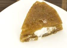 Traditional Turkish dessert, kaymakli ekmek kadayifi Royalty Free Stock Image