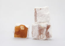 Traditional Turkish dessert, Turkish delight - Stock Images