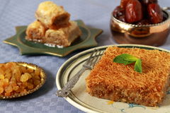 Traditional turkish desserts Stock Image