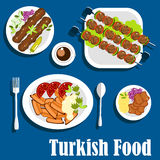 Traditional turkish dishes and coffee Royalty Free Stock Photo
