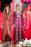 Traditional turkish dress at bazaar Royalty Free Stock Image