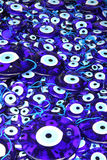 Traditional turkish eye-shaped amulets Stock Images