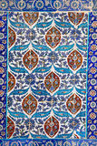 Traditional Turkish floral ceramic ornament on tiles Royalty Free Stock Photos