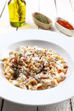 Traditional turkish food named mantı on a wood background Stock Images