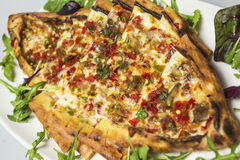 Traditional turkish food - pide Royalty Free Stock Photo