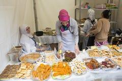 Traditional Turkish food presentation Stock Image