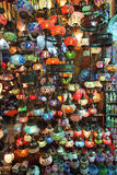 Traditional Turkish glass lamps Stock Photo
