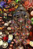 Traditional Turkish glass lamps Royalty Free Stock Image