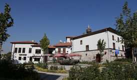 Traditional Turkish Houses in Ankara City Stock Images