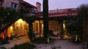 Traditional turkish houses, travel destination, alacati, cesme, turkey stock video