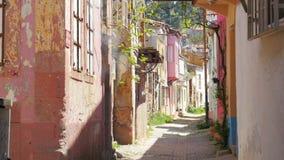 Traditional turkish houses, travel destination, ayvalik, turkey stock footage