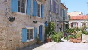Traditional turkish houses, travel destination, foca, turkey stock video