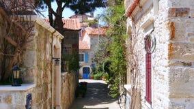 Traditional turkish houses, travel destination, foca, turkey stock footage