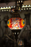 Traditional turkish lamp hanging at the Grand Stock Images