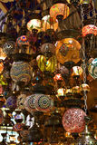 Traditional turkish lamps. On the market Stock Image