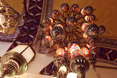 Traditional turkish lamps Royalty Free Stock Photos
