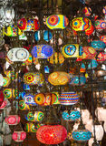 Traditional turkish lamps Stock Photos
