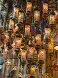 Traditional turkish lamps Royalty Free Stock Image