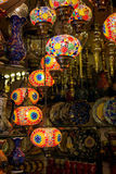 Traditional turkish lamps Stock Photography