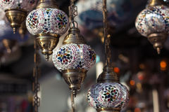Traditional turkish lamps Royalty Free Stock Photography