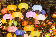 Traditional Turkish lanterns. Made of colored glass Stock Images