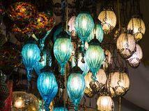 Traditional Turkish lanterns. Made of colored glass Stock Photo