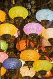 Traditional Turkish lanterns. Made of colored glass Royalty Free Stock Photography