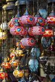 Traditional Turkish lanterns. Made of colored glass Royalty Free Stock Images