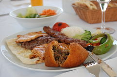 Traditional turkish meal Royalty Free Stock Photos