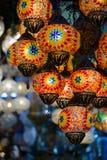 Traditional turkish mosaic lanterns Royalty Free Stock Photo