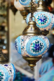 Traditional turkish mosaic lanterns Royalty Free Stock Photo