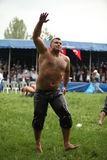 Traditional Turkish Oil Wrestling Stock Image