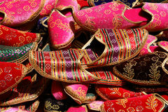 Traditional Turkish Ottoman slippers royalty free stock images