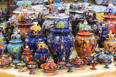 Traditional Turkish painted ceramics Stock Images