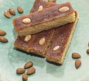 Traditional turkish pastry - bademli kek Stock Image