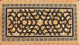 Traditional Turkish pattern on wooden box stock images