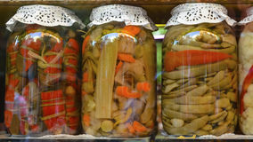 Traditional Turkish pickles of various fruits and vegetables Stock Photos