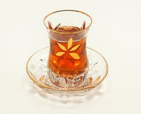 Turkish tea in a traditional drinking set Royalty Free Stock Photo