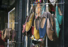Traditional turkish shoes Stock Photography