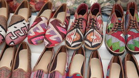 Traditional Turkish Shoes in Istanbul City stock video footage