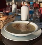 Traditional turkish soup Stock Photo