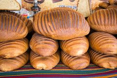 Traditional Turkish style made bread royalty free stock photography